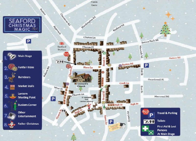 Seaford Chtristmas Magic Map