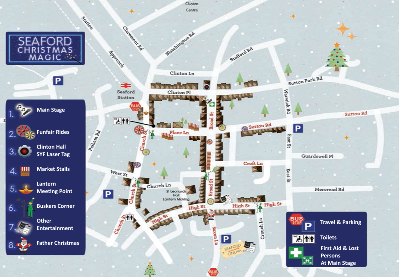 Seaford Christmas Magic Map